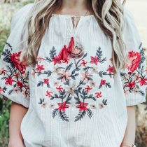 romantic embroidered top